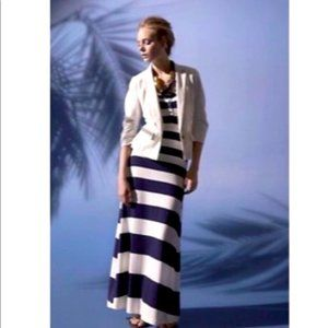 Anthro Deletta A-Different-Stripe Maxi Dress